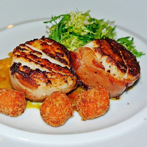Seared Scallops and Serano Ham