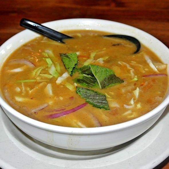 Vegetarian Samusa Soup