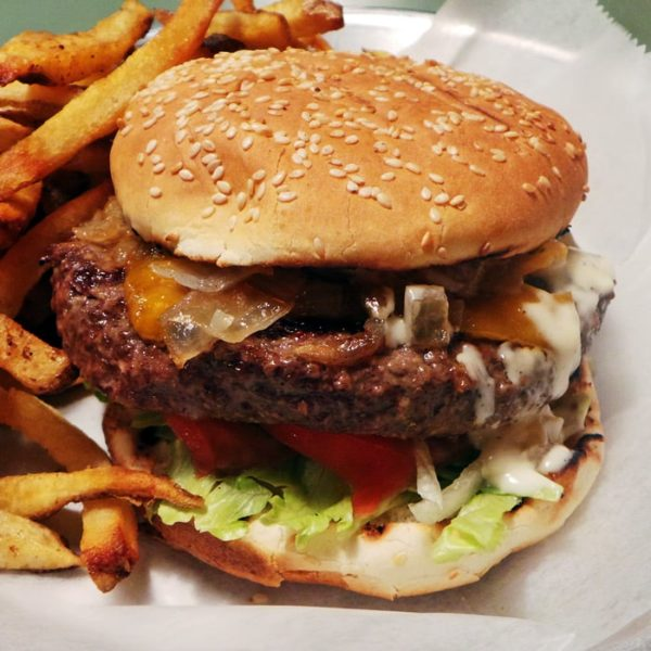 Huge, Cheap Burgers & Fries at Joy Burger Bar in NYC