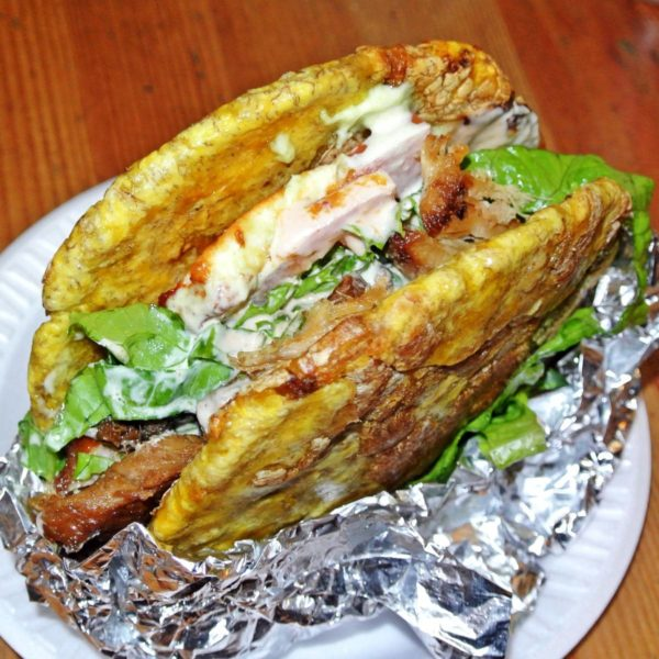 The Patacon Sandwich uses Plantains Instead of Bread at Cachapas Y Mas