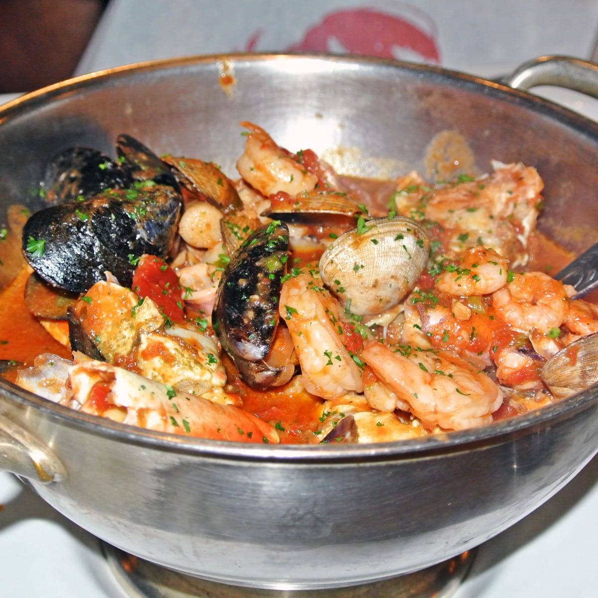 "The ""Best Damn Crab Cioppino"" at Sotto Mare in North Beach"
